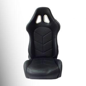 Fotel kubełkowy eco-skóra  z regulacją oparcia